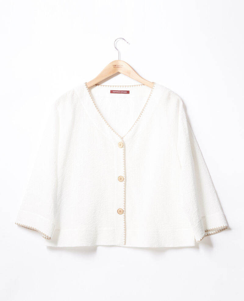Pièce deux en un : veste ou top casual Kaolin Fapeau