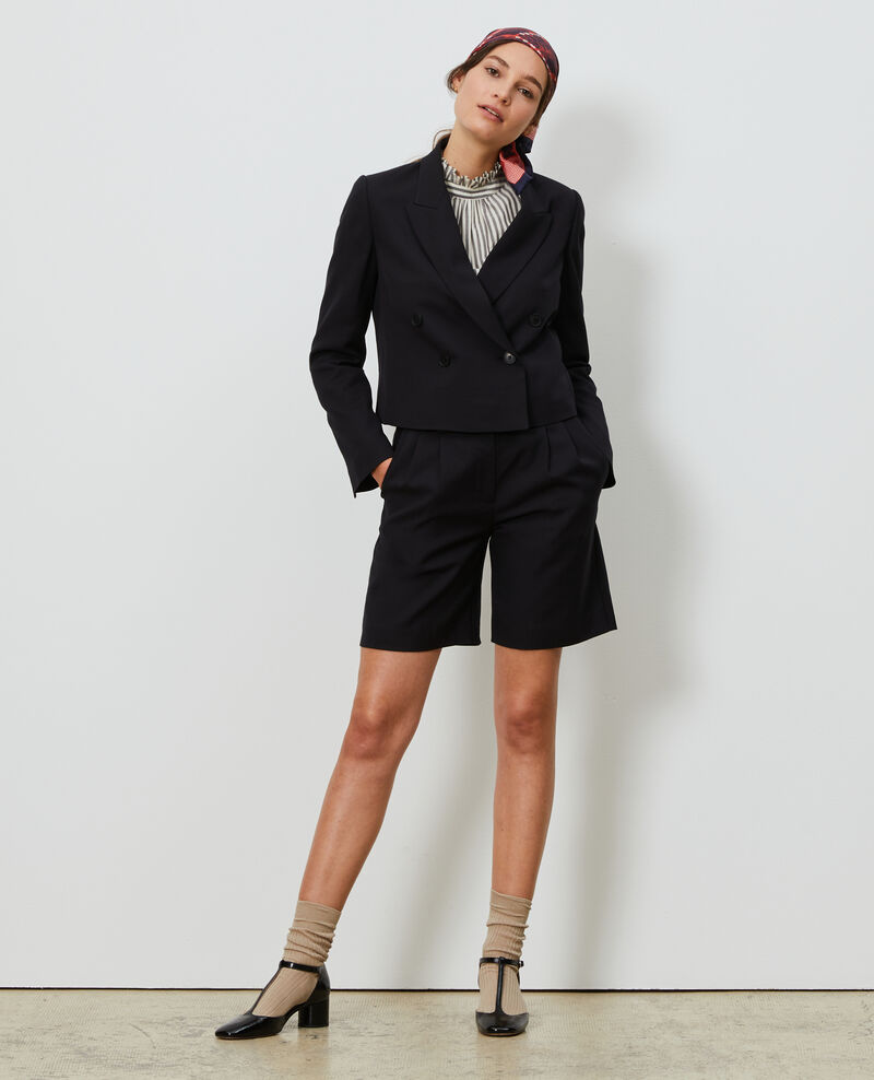 Veste spencer courte en laine Black beauty Narre