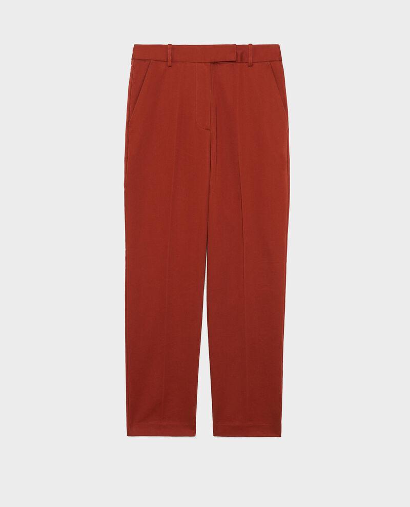 Pantalon chino MARGUERITE, 7/8e fuselé en coton Brandy brown Mezel