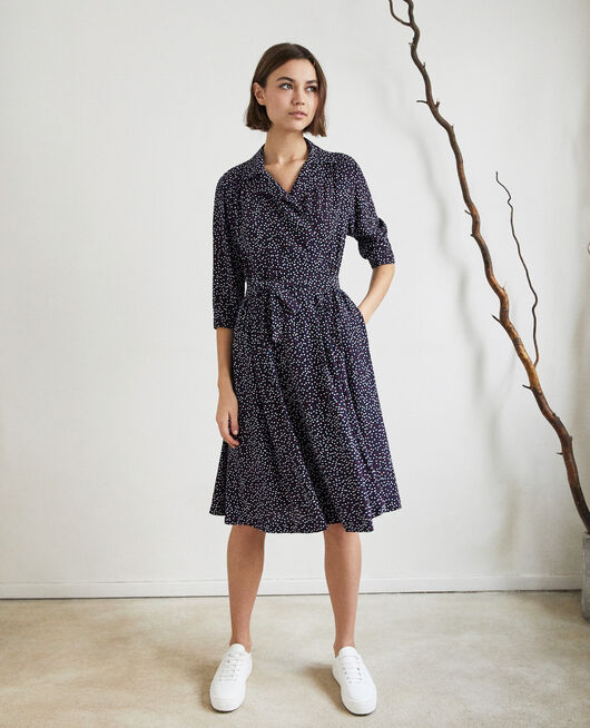 Robe portefeuille DOT PRINT NAVY