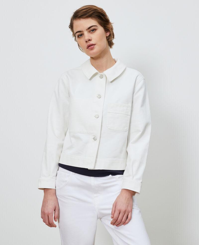 Veste courte en coton Optical white Nana