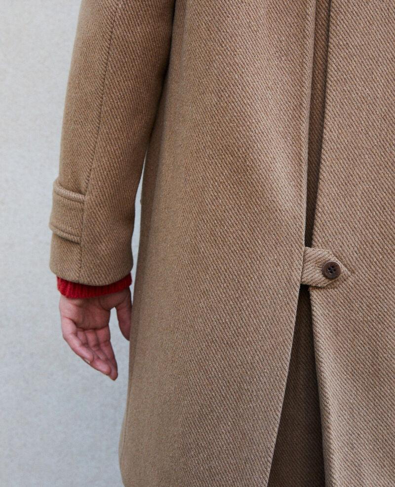 Manteau avec col montant Trush Goyave