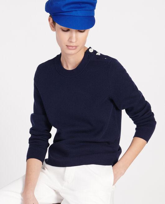 Pull marin en laine MARITIME BLUE