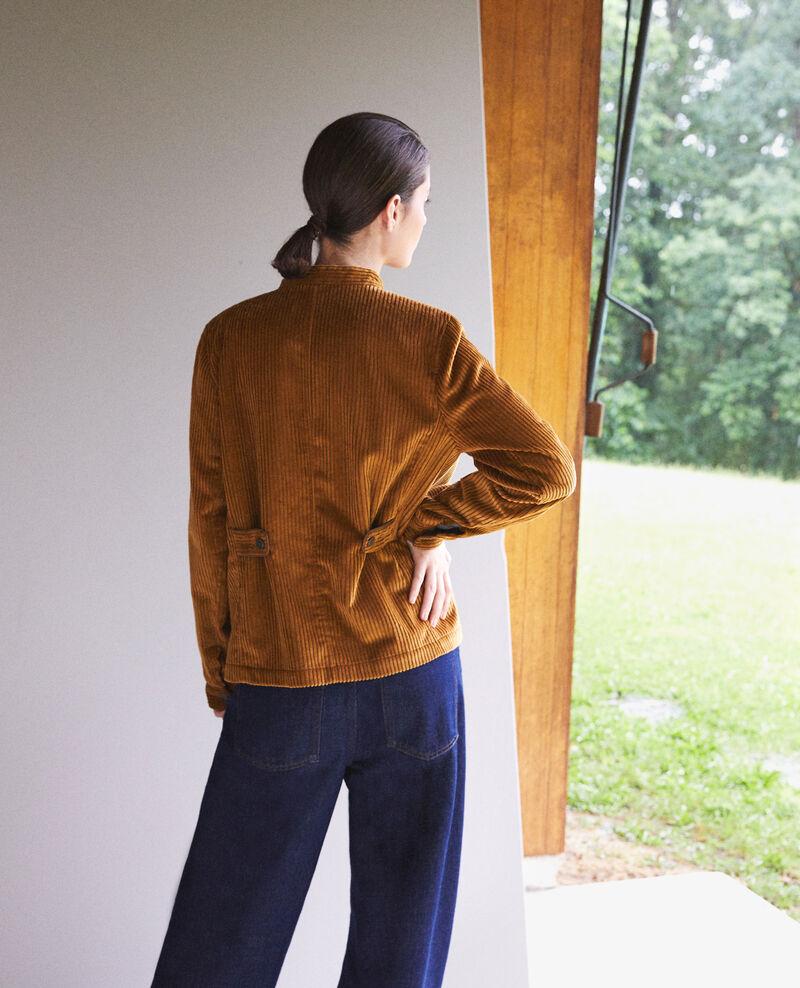 Veste en gros velours côtelé Golden brown Goiseau