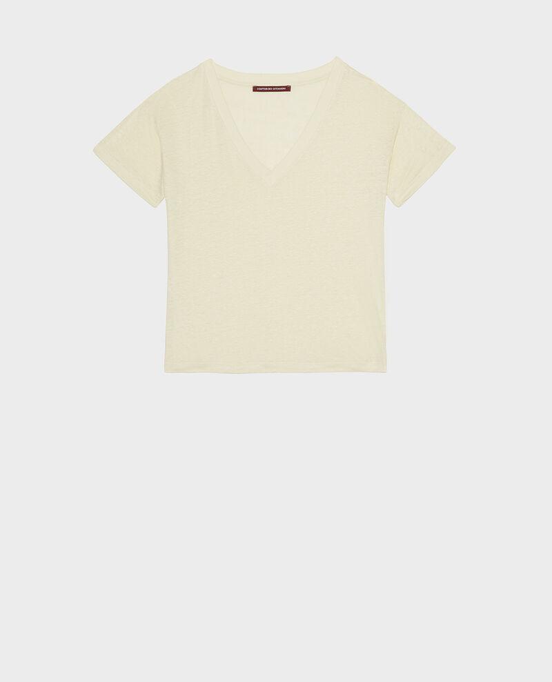 T-shirts en lin jersey Tender yellow Locmelar