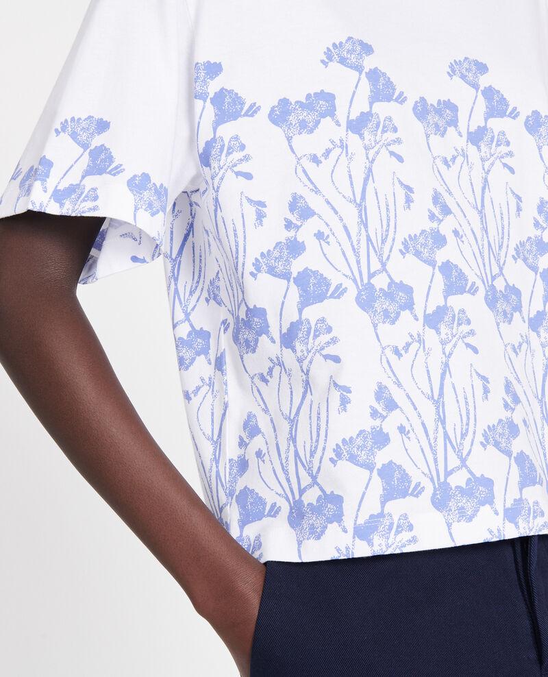 T-shirt imprimé floral en coton Empreinte gardenia jewel Lenoyera
