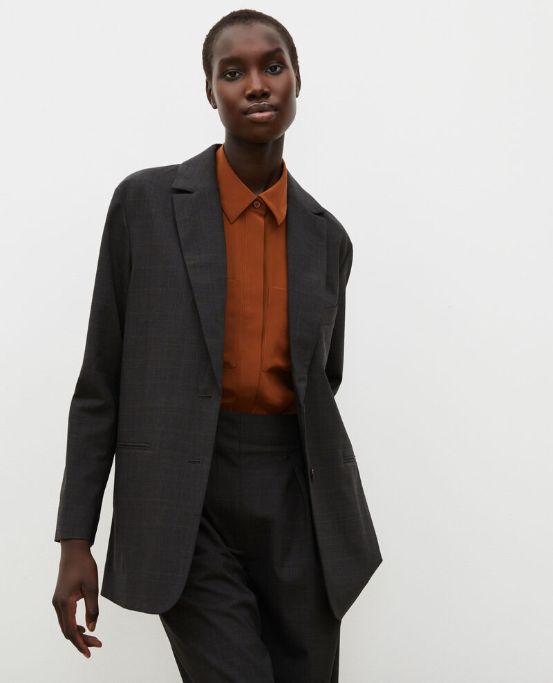 Blazer d'homme en laine prince de galles Check-wool-pattern-tailoring Marblou