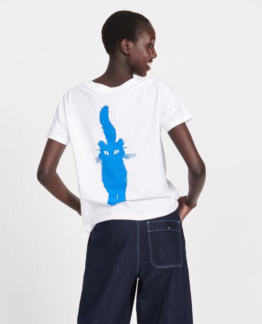 T-shirt en coton PRINCESS BLUE