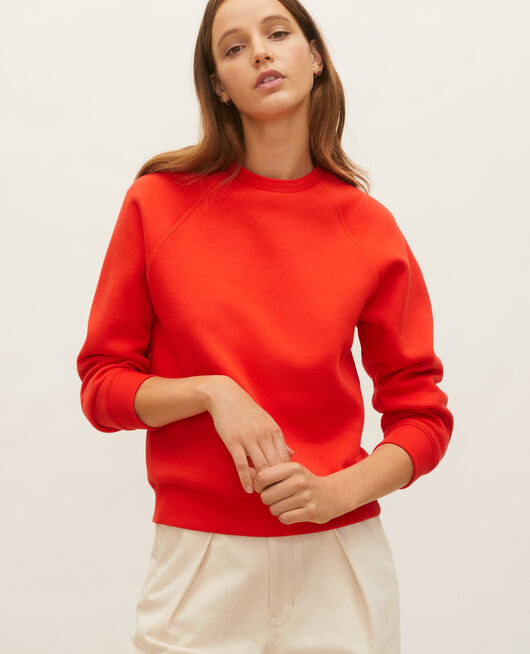 Sweatshirt en molleton FIERY RED