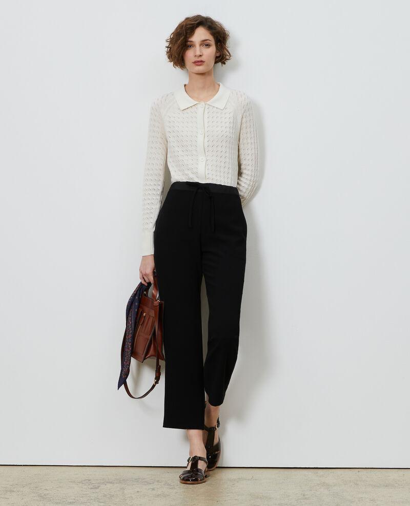Pantalon fuselé esprit tayloring Black beauty Marca