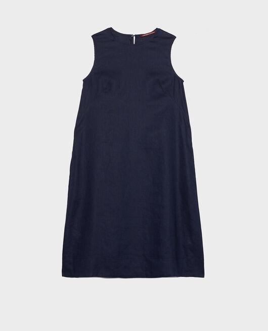 Robe 3 trous en lin MARITIME BLUE