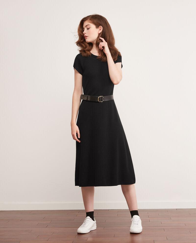 Robe en maille zéro coutures Noir Dema