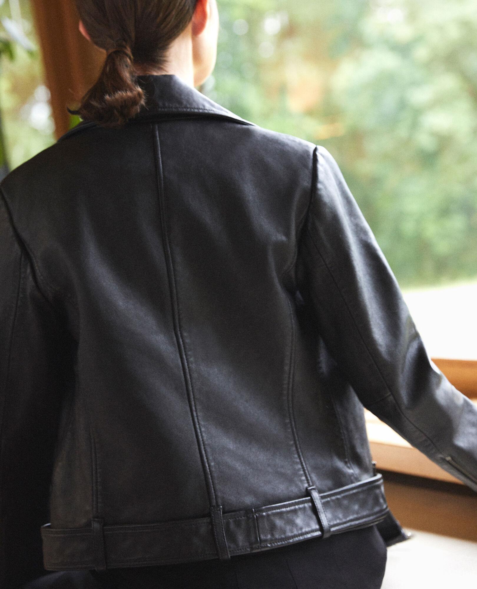 Veste en cuir femme comptoir des cotonniers
