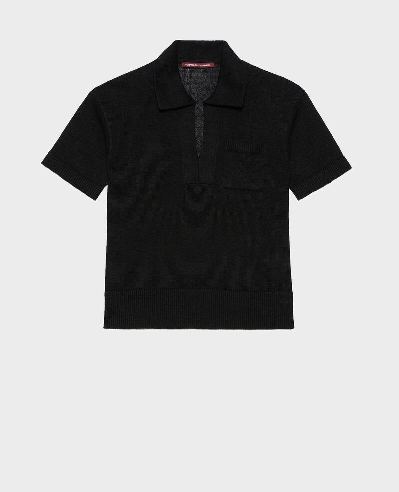 Polo léger en lin Black beauty Novella