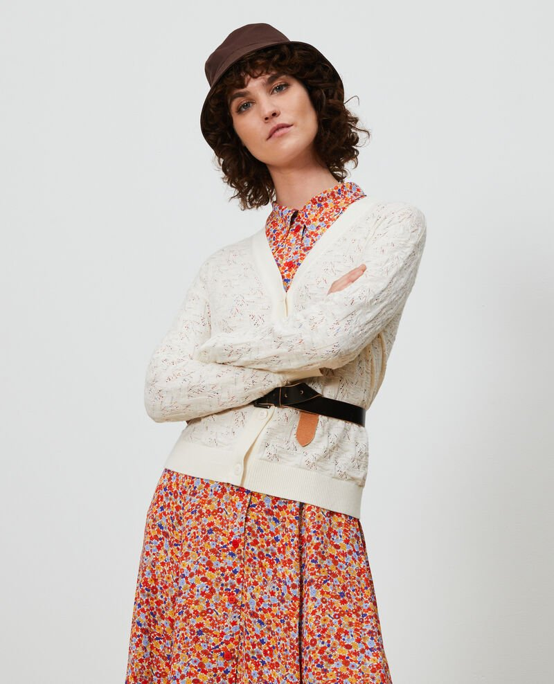 Cardigan en coton et lin Buttercream Lafiora