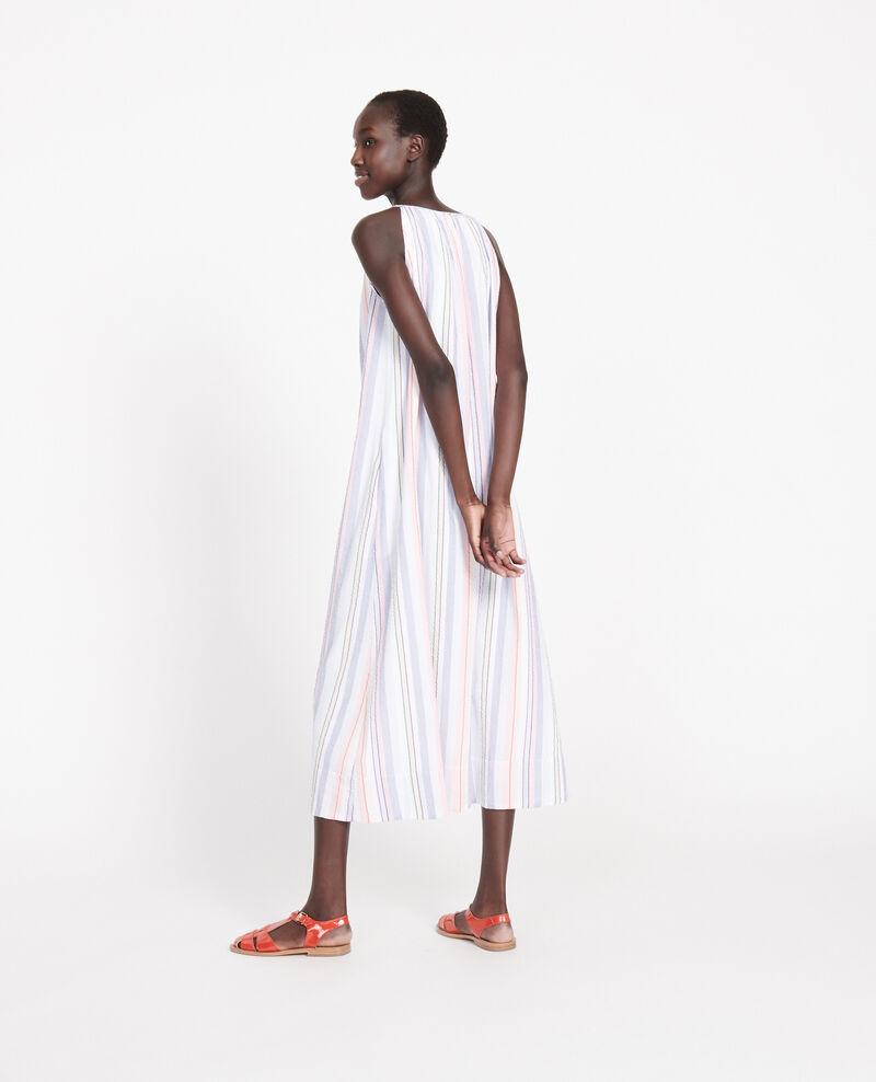 Robe longue en coton Stripes multico Lallure