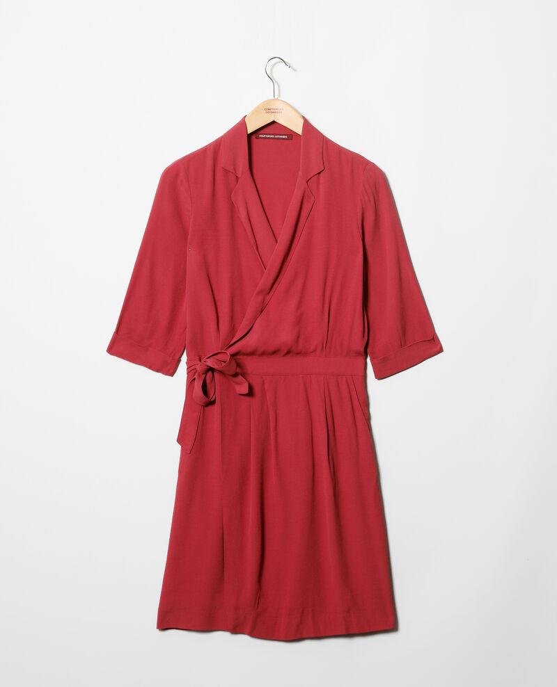 Robe portefeuille en viscose Rouge Gideen