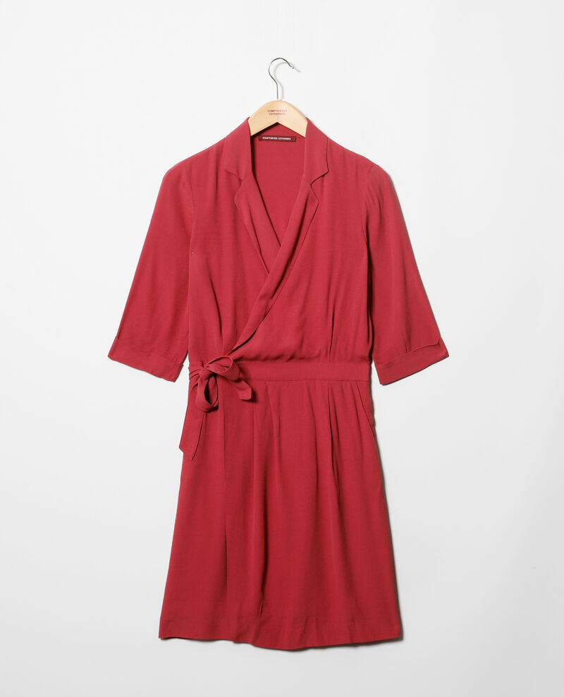 Robe portefeuille en viscose Earth red Gideen