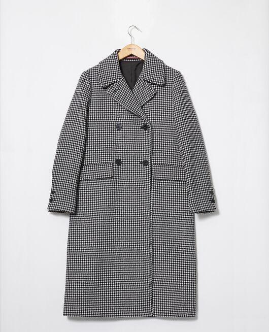 Manteau en laine HOUNDTOOTH