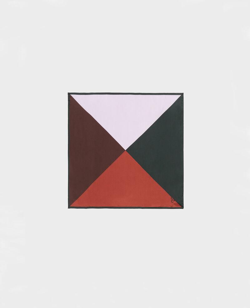Foulard carré de soie multicolore Pastel lilac Massana