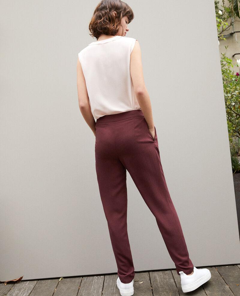 Pantalon style sarouel   Marron Fetera