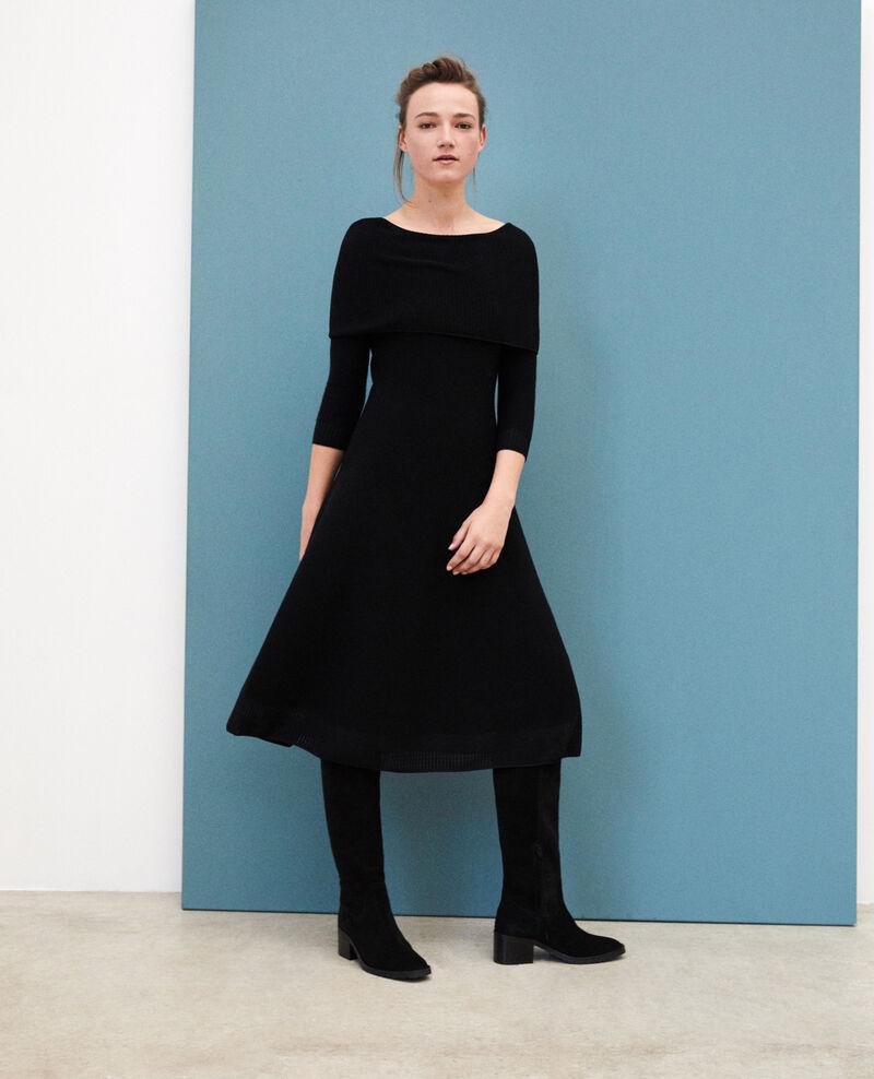 Robe en maille 3D avec col ajustable Noir Gamelie