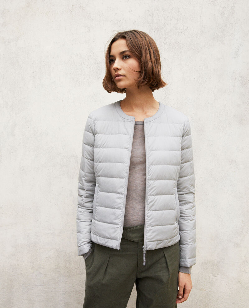 Doudoune iconique Mademoiselle Plume Light grey/off white Illopou