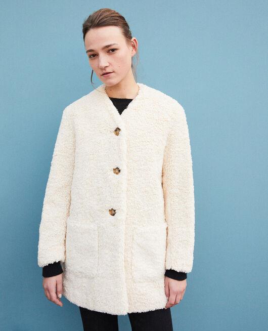Manteau en fausse fourrure OFF WHITE