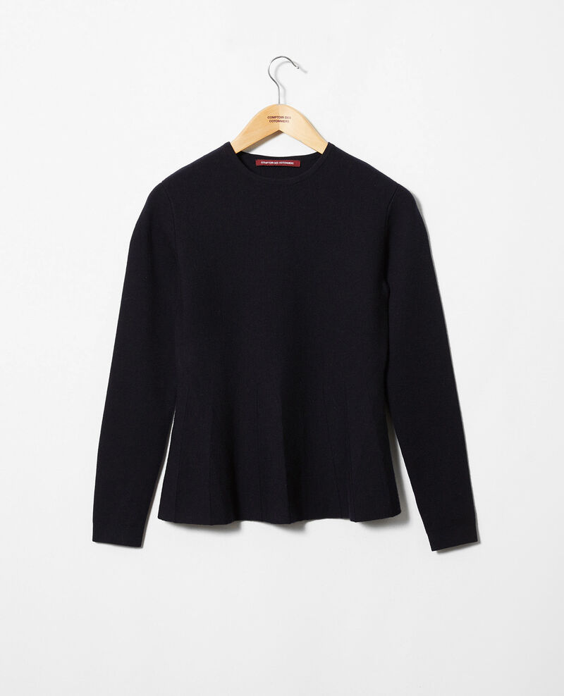 Pull col rond Dark navy Jamoiselle