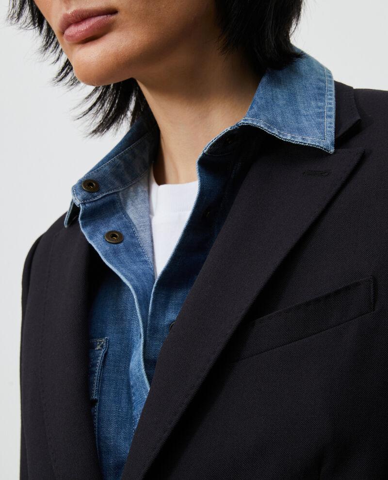 Blazer léger en laine sèche Black beauty Luscade