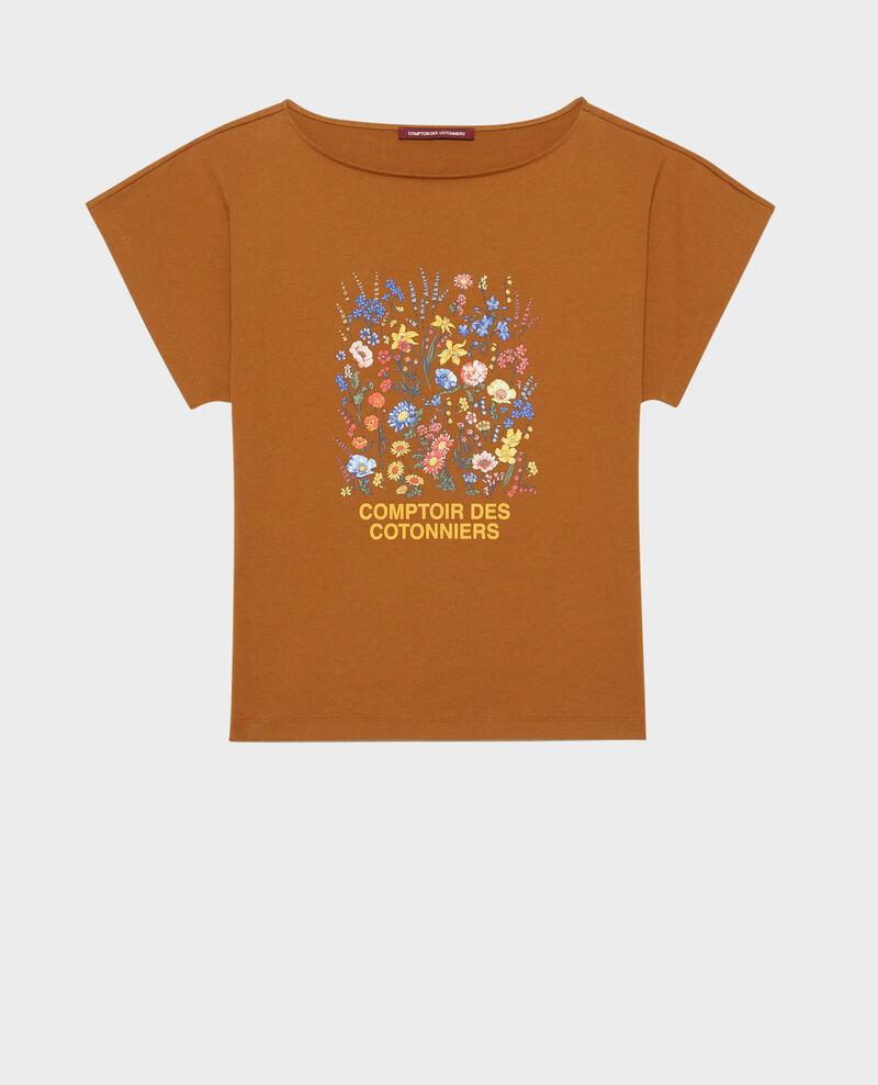 T-shirt en coton manches courtes Bronze brown Marcelin