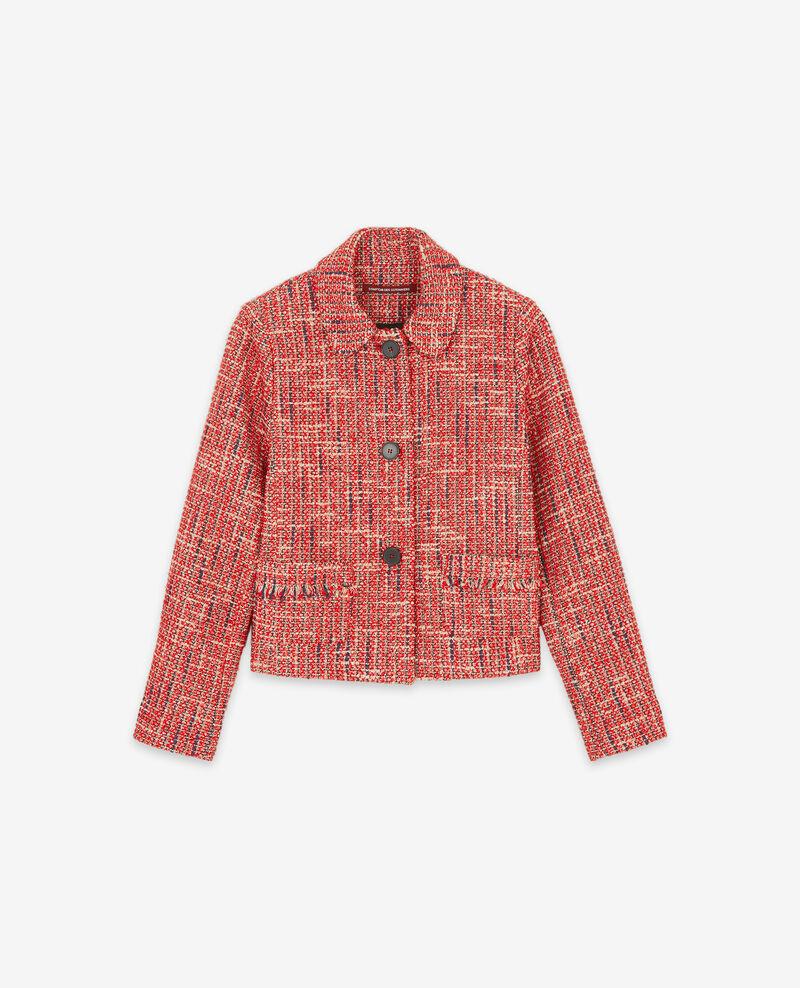 Veste en tweed Orange red Djimmy