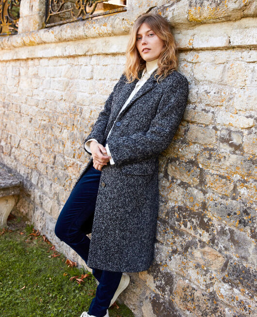 Manteau en tweed GREY MELANGE