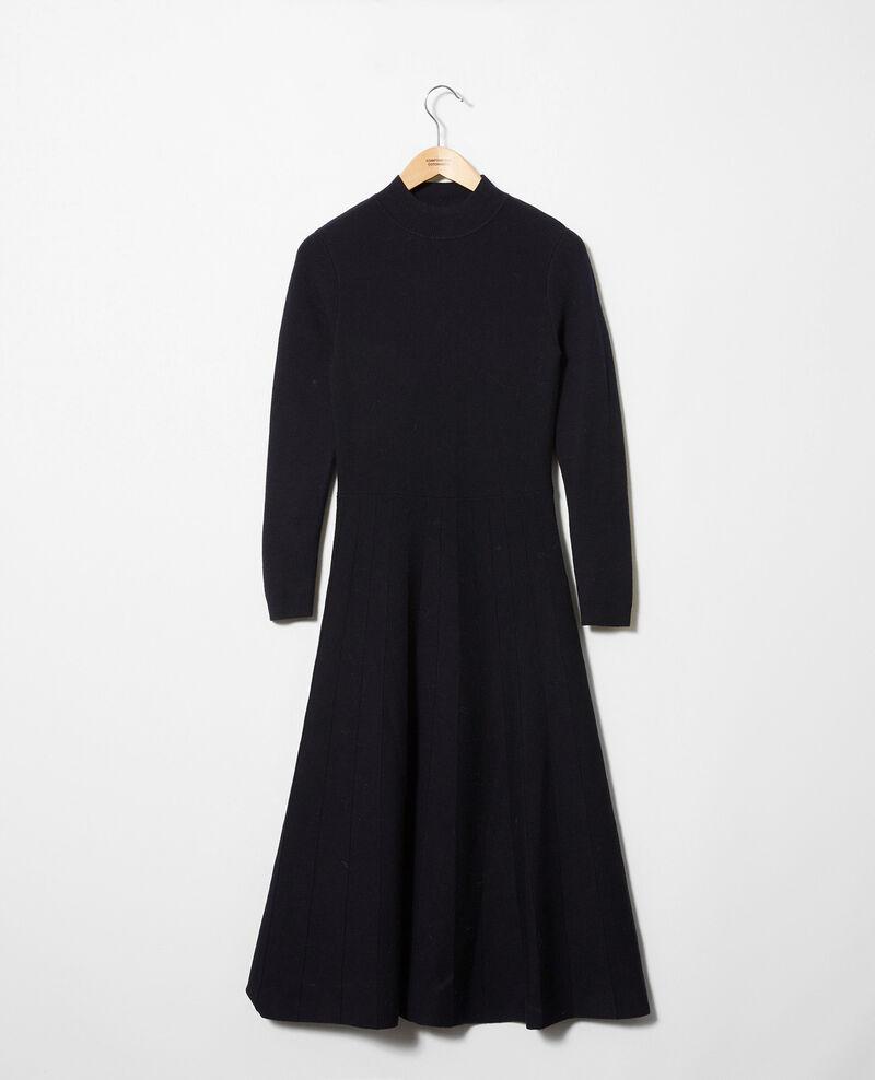Robe longue en maille Dark navy Jadame