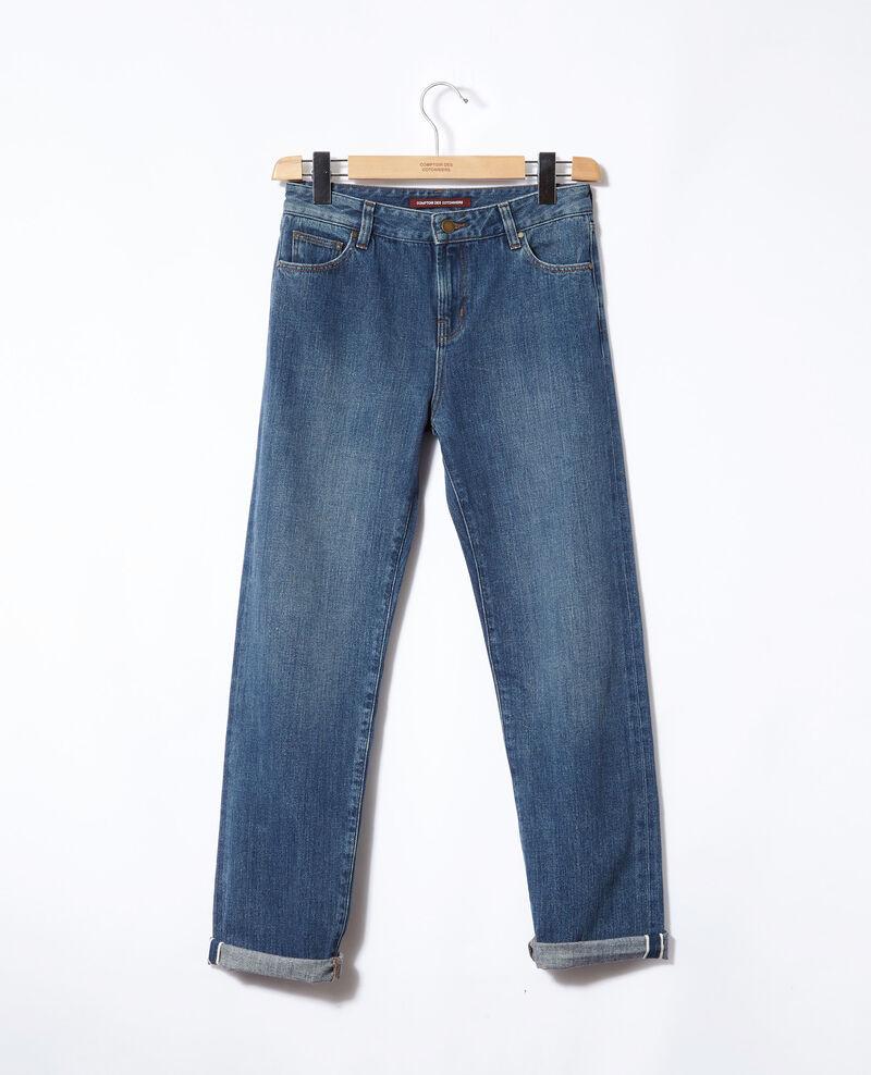 Jean real straight Vintage wash Ganon