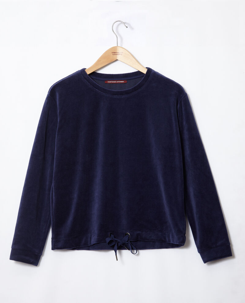 Sweet-shirt en velours Medieval blue Gala