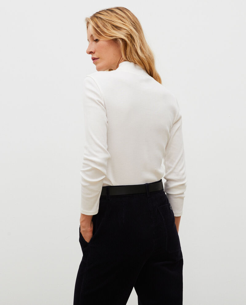Pull manches longues en coton stretch Jet stream Marval