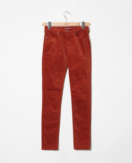Pantalon en velours lisse BRANDY BROWN