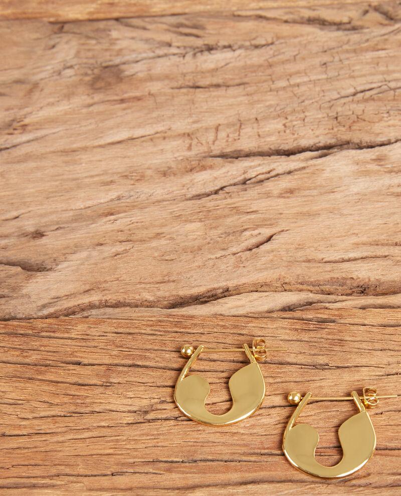 Boucles d'oreilles épingle à nourrice Gold Formi