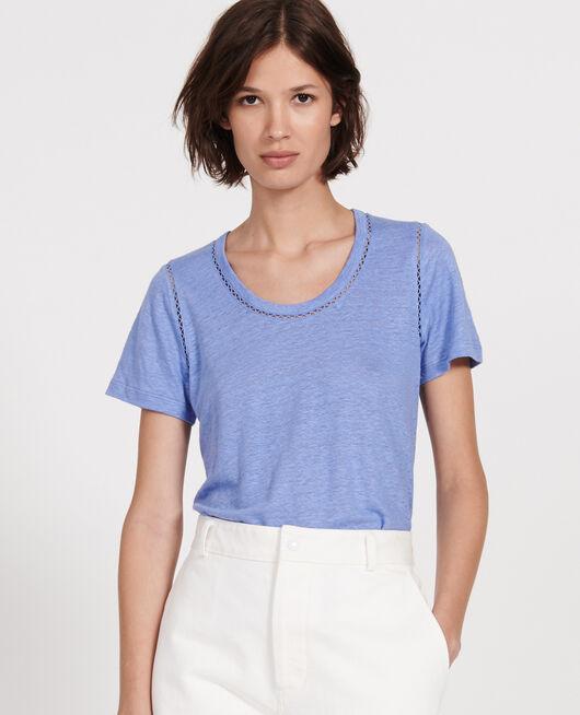 T-shirt en lin jersey  PERSIAN JEWEL