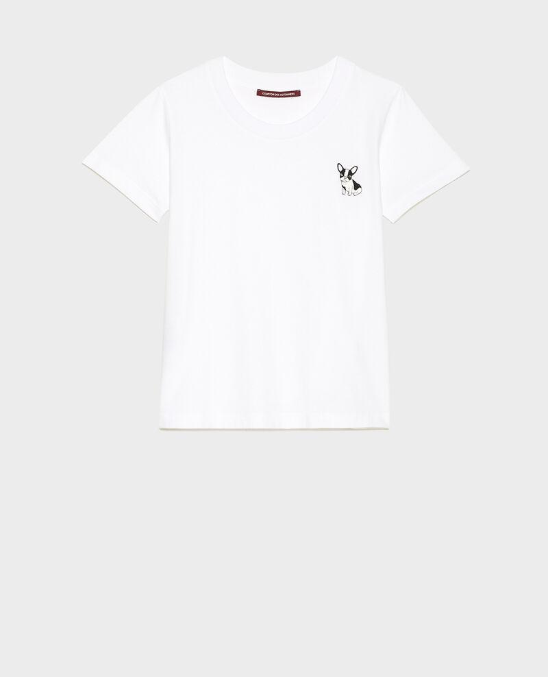 T-shirt en coton Léon Optical white Lenou