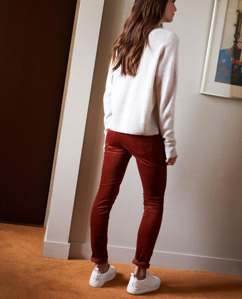 Pantalon en velours lisse Brandy brown Juillemin