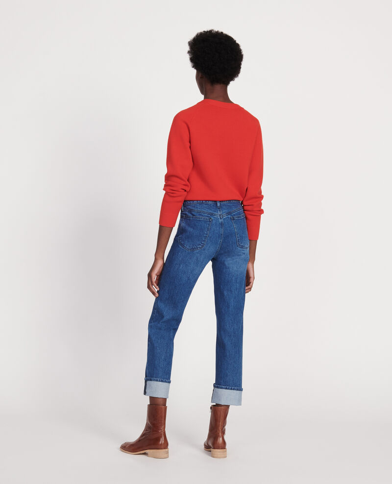 SLIM STRAIGHT - Jean droit en denim délavé Denim medium wash Linneou
