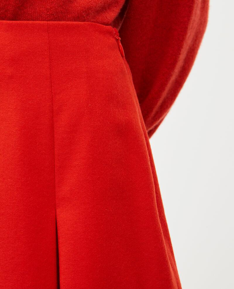 Jupe trapèze courte en flanelle laine Valiant poppy Marcoles