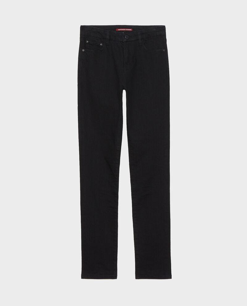 LILI - SLIM - Jean stretch noir Noir denim Nanblack