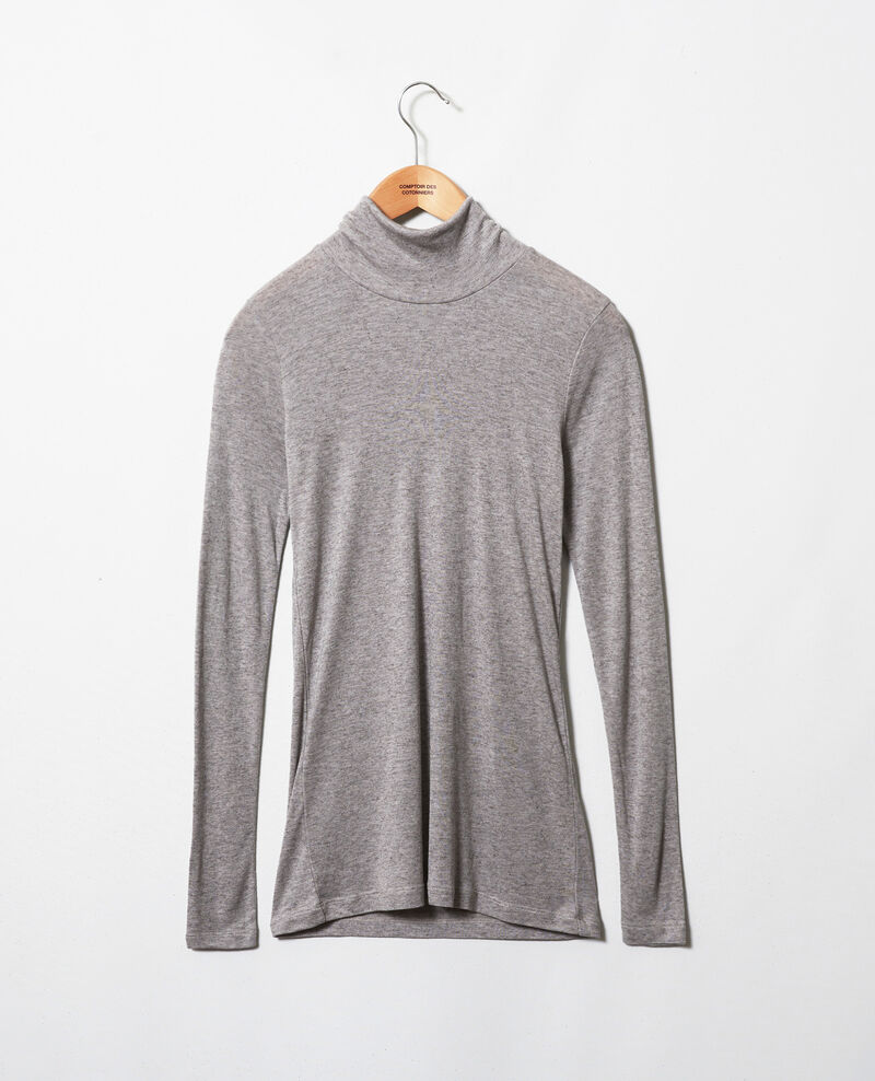 T-shirt col roulé avec du cachemire Middle grey melange Jylka