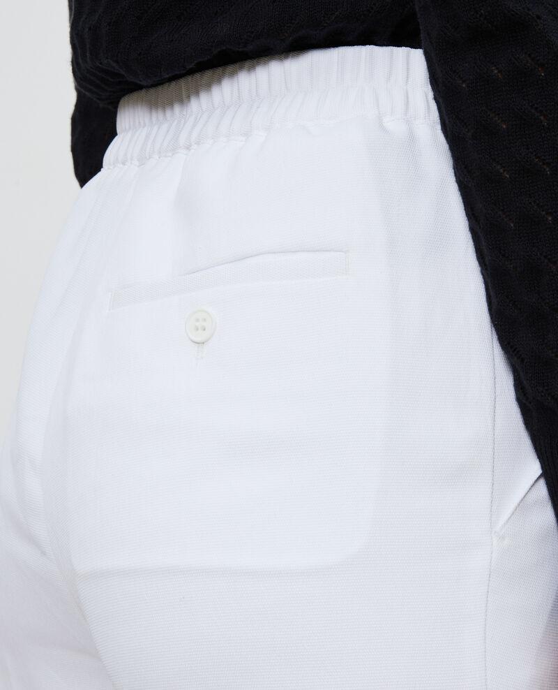 Pantalon MARGUERITE, élastiqué 7/8e Brilliant white Napoli