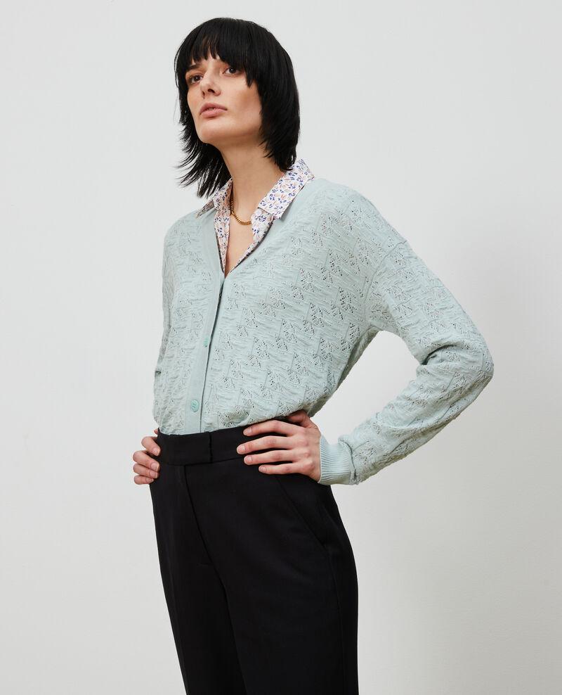 Cardigan en coton et lin Blue haze Lafiora