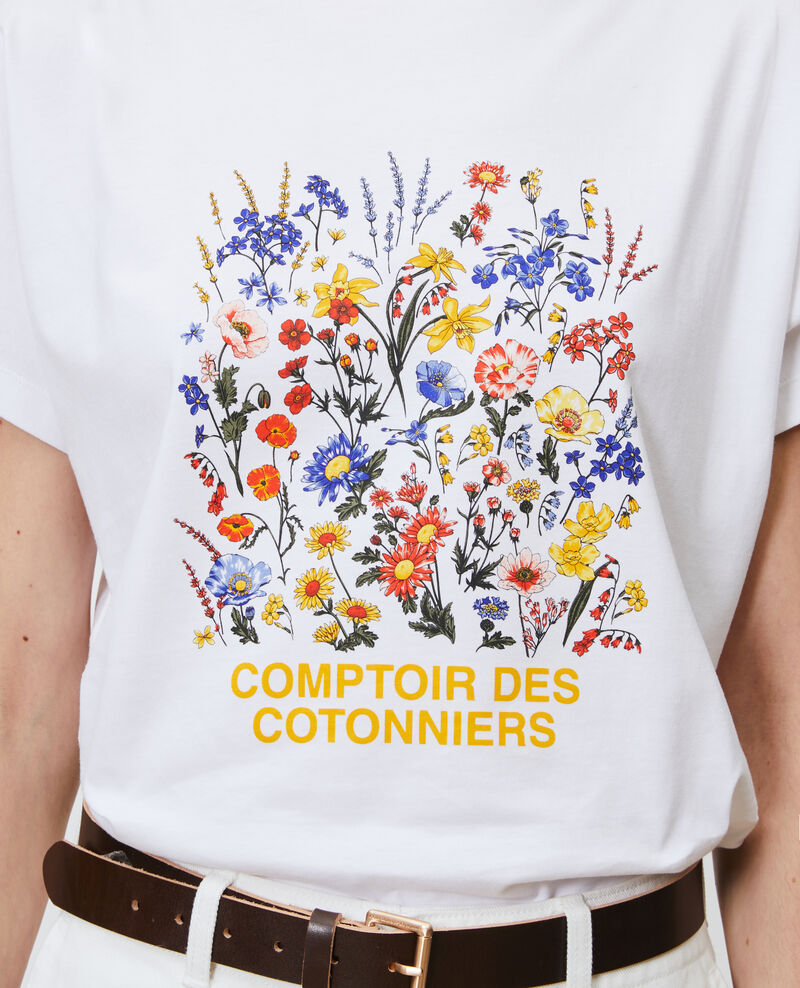 T-shirt en coton manches courtes Brilliant white Marcelin