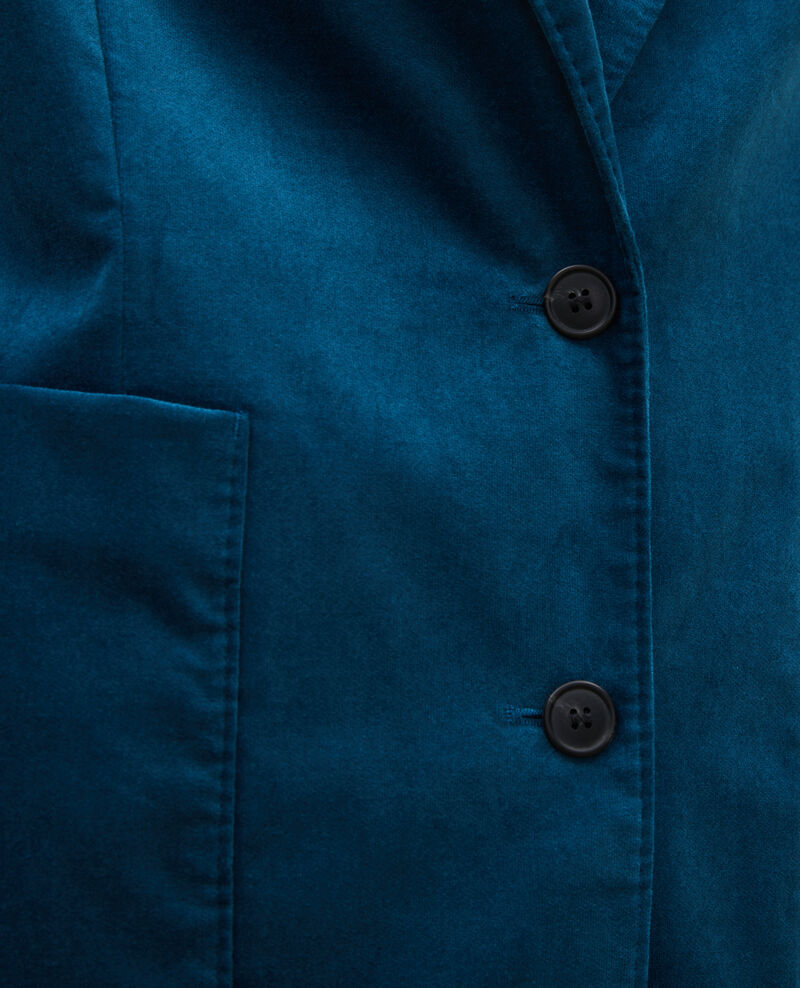 Blazer en velours deux boutons Blue coral Muscade